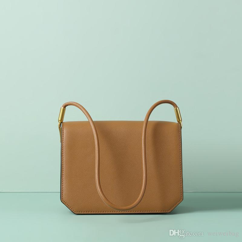 Nero donne borsa di modo delle signore del progettista Shoulder Bag Gioventù Flap dolce vento Genuine Leather Crossbody Bag regalo 1097
