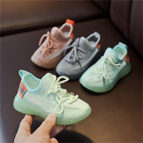 Retail wholesale children's coconut shoes 2020 autumn new boys net shoes girls breathable small middle school students casual shoes