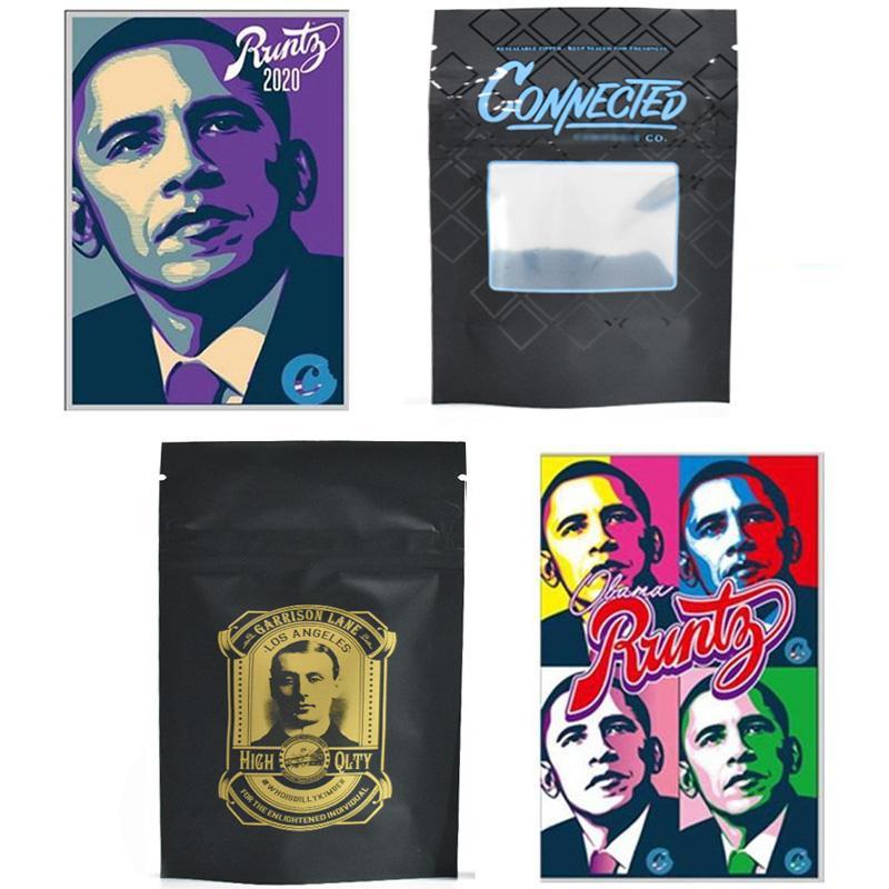 2020 Runtz 3.5 Edibles 420 Embalagem Cheiro Prova Mylar Mylar Biscoitos Obama Conectado Billy Kimber OG Zipper para Flores de Erva Seco Tabaco