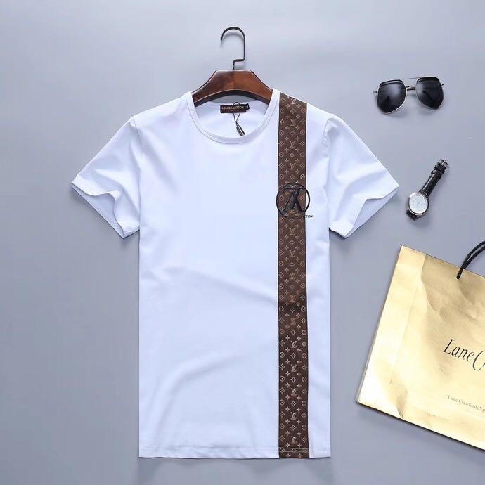 2020 Mensentwerfer T-Shirts Kurzarm-O-Ansatz Baumwolle Spandex-Hemd der Männer dünne weiche Männer-T-Shirt GHTU598