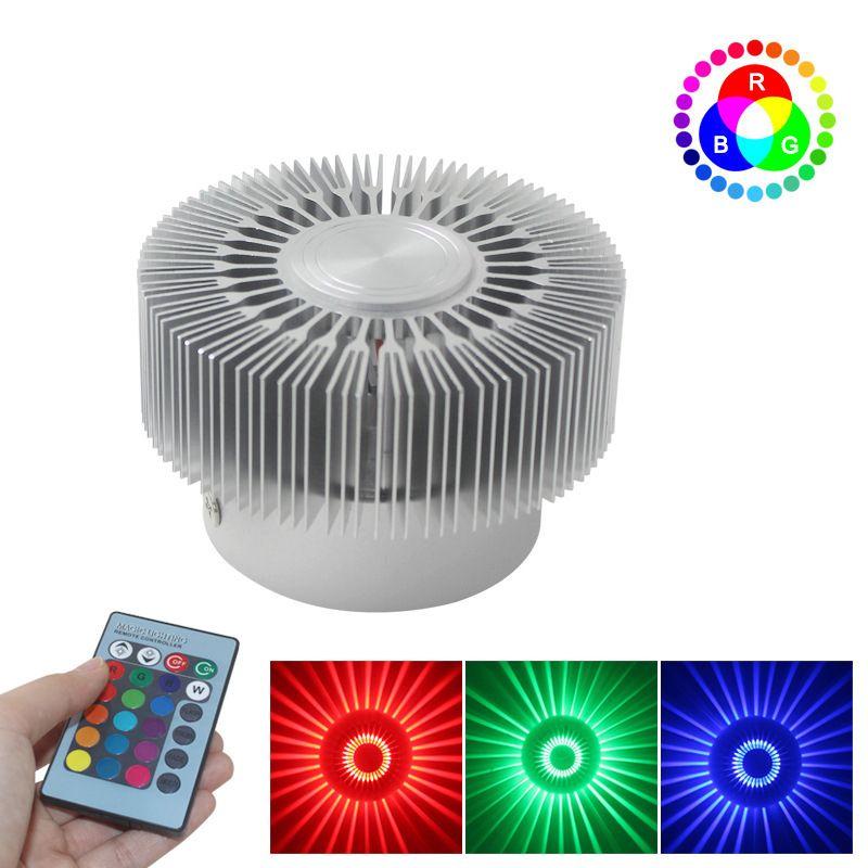 원격 LED 해바라기 벽 램프 통로 복도 천장 조명 장식 조명 효과 베드룸 램프 다채로운 RGB 제어 10188