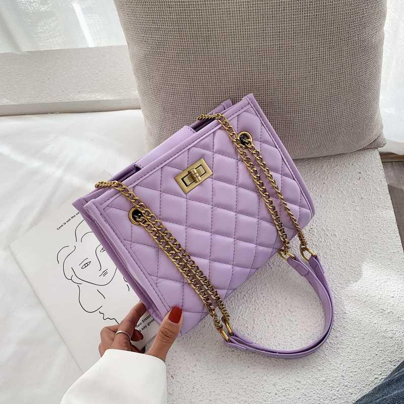 purple Large Shoulder Bag Women Travel Bags Leather Pu Quilted Bag Female Luxury Handbags Women Bags Designer Sac A Main Femme