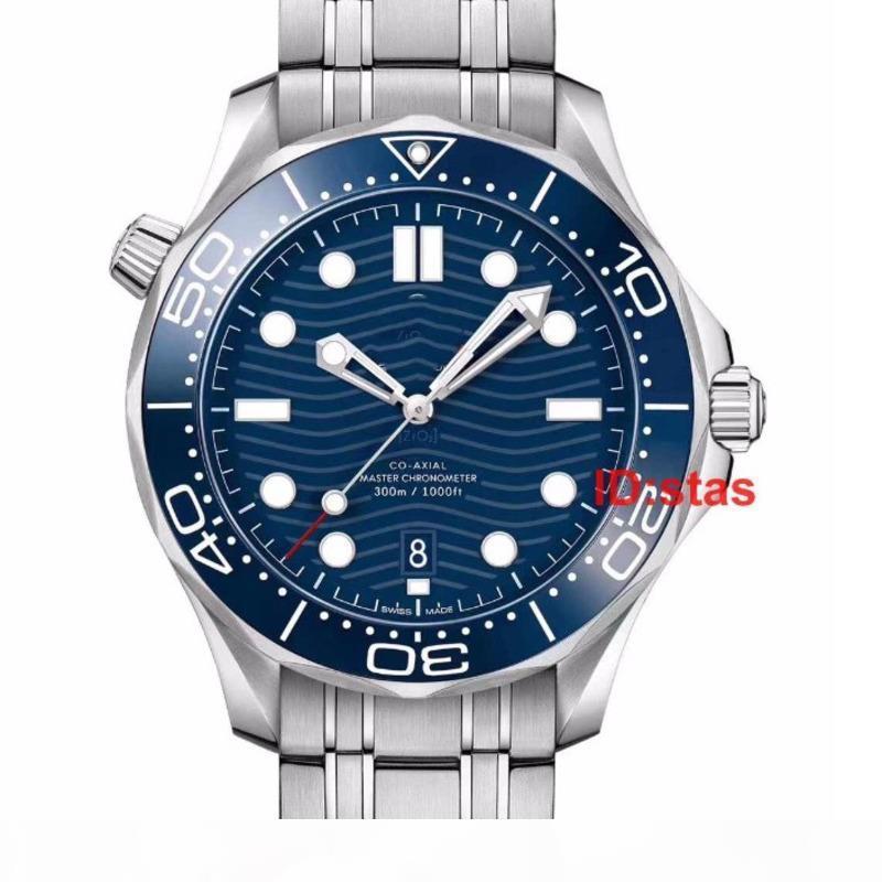 Top correa de caucho de oro rosa Diseñador acero inoxidable del reloj de los hombres automáticos de lujo para hombre relojes del Professional Diver 300M Maestro Relojes de la OTAN