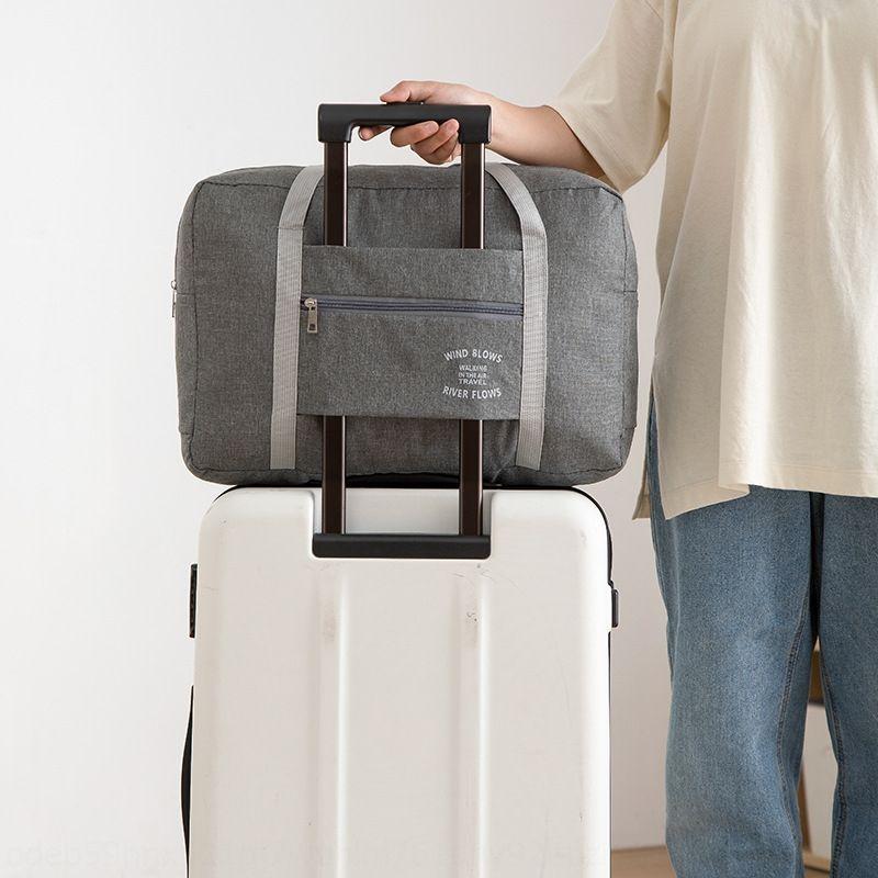 Nova haste simples ombro bagagem bagagem destacável puxar viagens dobrar o saco de viagem portátil ombro saco de compras grande capacidade