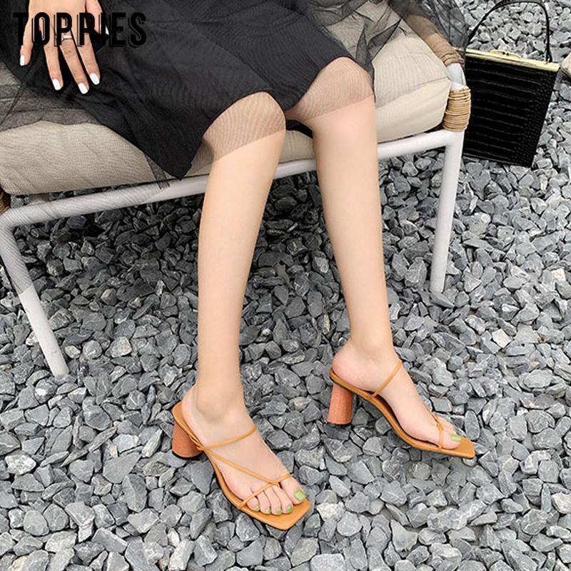 Toppies 2020 scarpe dei sandali estivi alti talloni delle donne eleganti signore pantofole punta aperta CX200715
