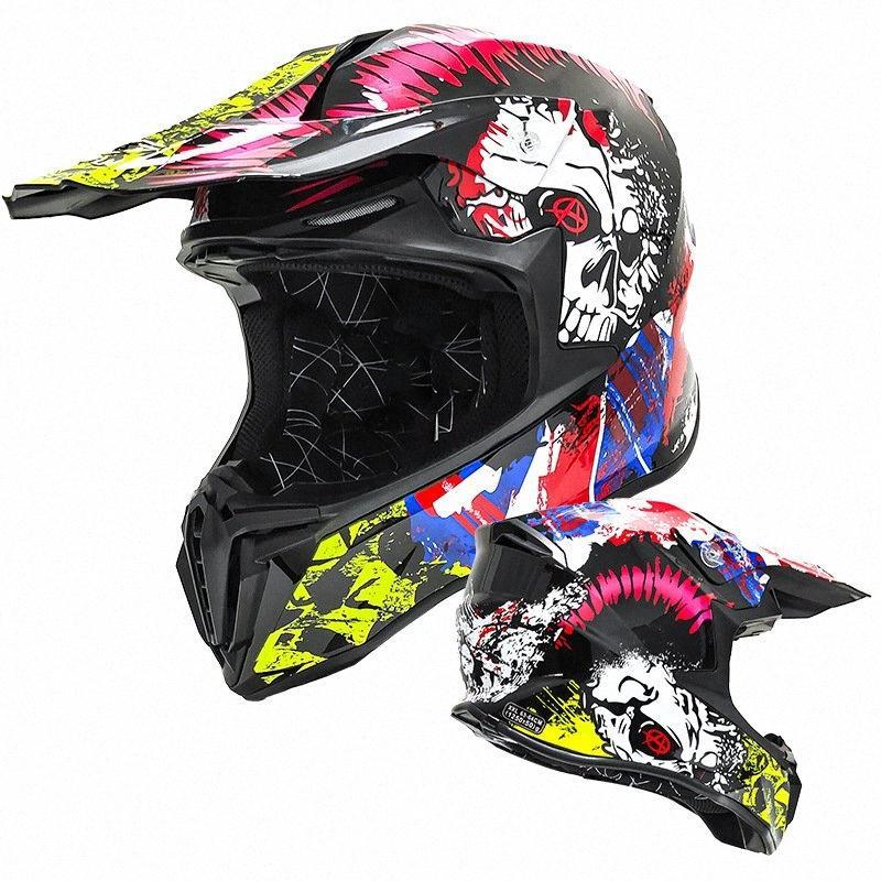 Casco de la motocicleta de los hombres y las mujeres cuatro estaciones del casco de la motocicleta de la cara llena de la cara llena Caballero Koww #