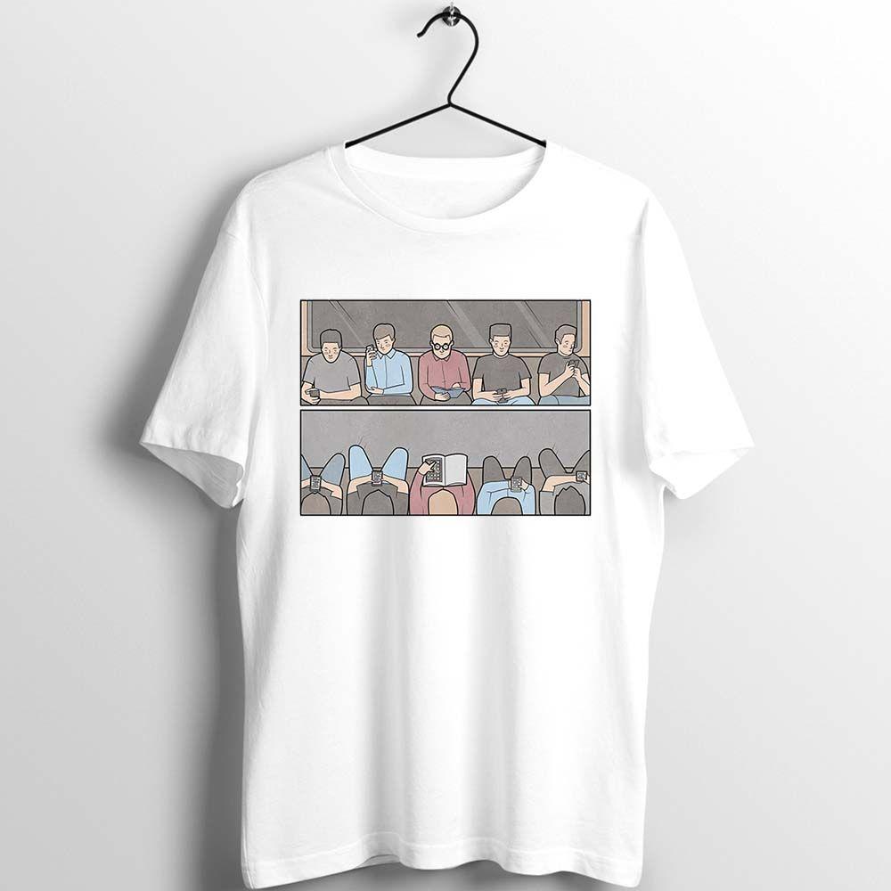 Unix Camiseta Homens Mulheres Cultivadas Book Reader Impresso sarcástico Depressão aleatória torção engraçada inesperado Tee