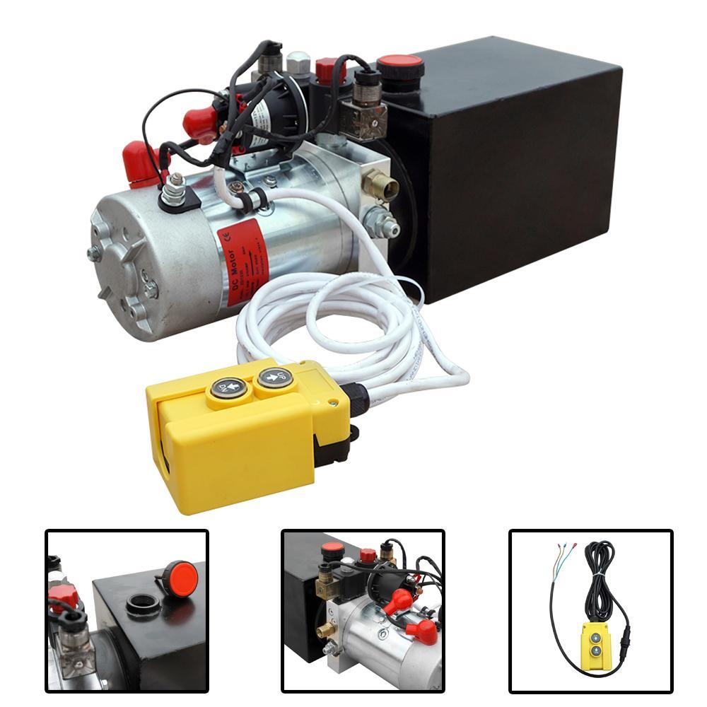 Damperli Kamyon için Fragman Pompası 12 Quart 12V Elektrikli Hidrolik Güç Çift Etkili Güç-up Kaynağı Ünitesi