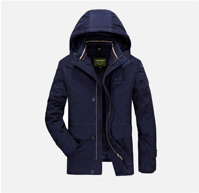 Papas collar del soporte del color puro de carga abrigos de manga larga para hombre de sombrero desmontable de diseño chaquetas de lana con capucha para hombre de las chaquetas de invierno