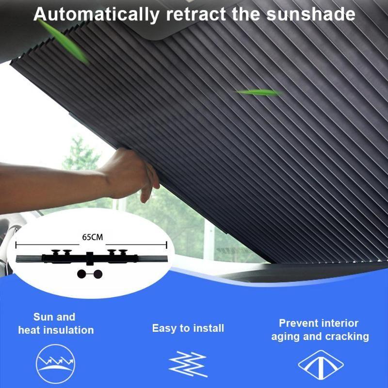 Nouvelle mise à niveau 65cm Pare-Brise-soleil Pare-soleil UV résistant à la chaleur réflecteur pour garder votre sang froid du véhicule