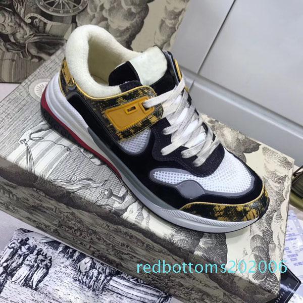 r3 Новое прибытие Мода Мужчины Женщины Повседневная обувь Роскошные Конструкторы кроссовки обувь Лучшие качества из натуральной кожи Bee Вышитая мужская обувь c15