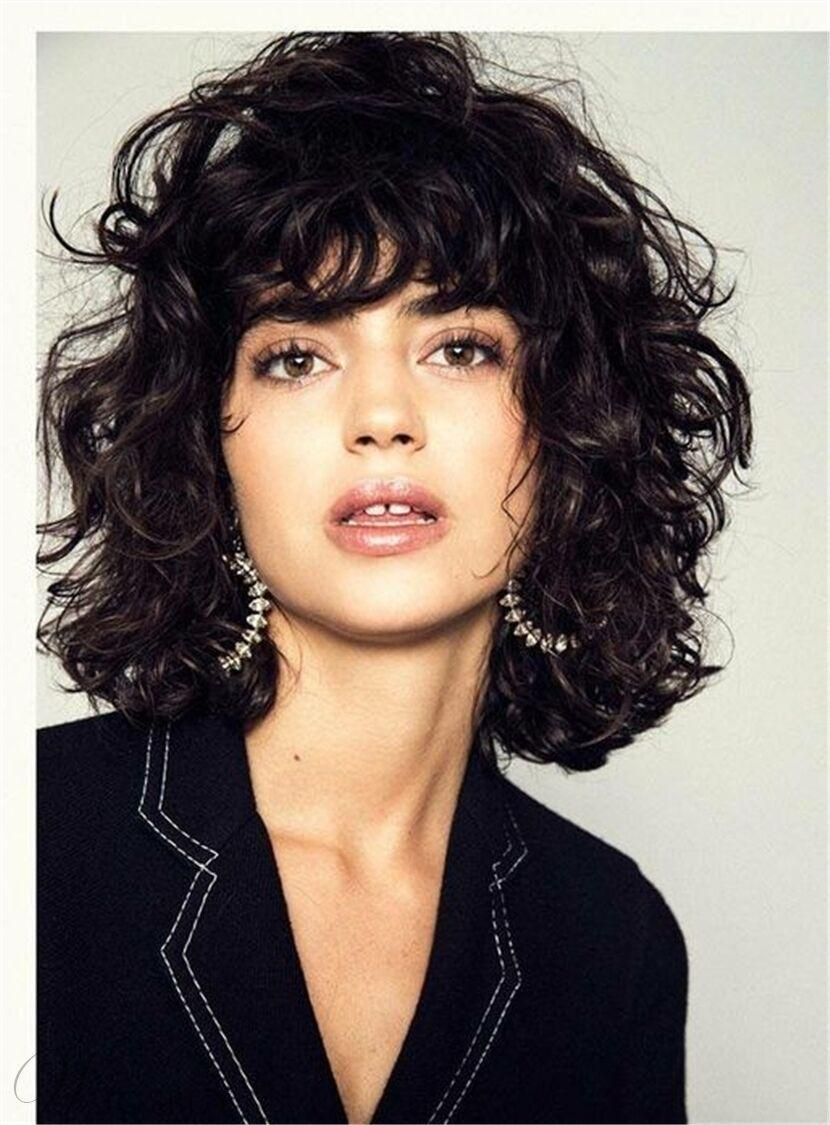 Fluffy Layered Bob Hairstyle Medium Charming Synthetic Curly Hair Women  Wigs Buy Wig Kanekalon Wigs From Suqiqi2019, $14.56| DHgate.Com