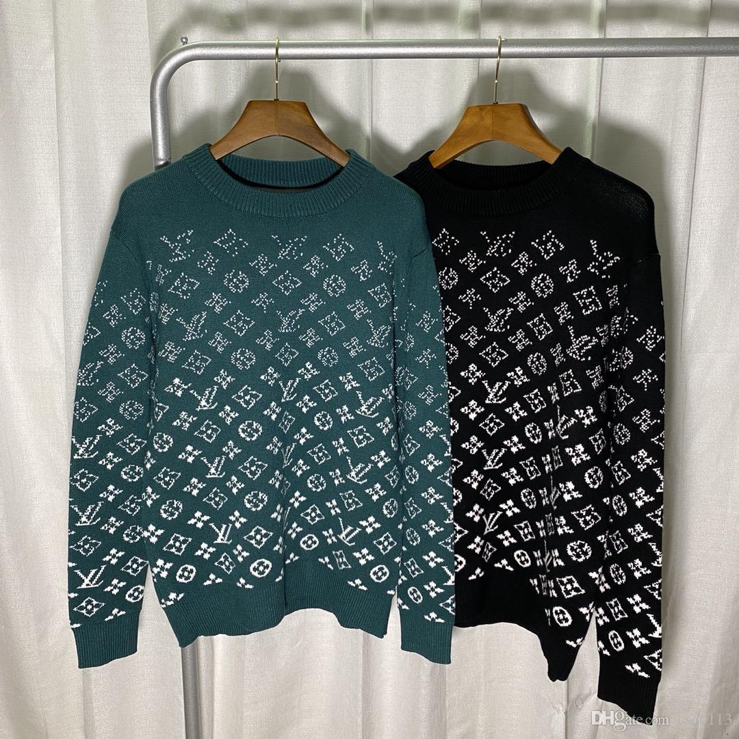тонкий бренд вязаный пуловер свитер зимой 2020 высокого качества высокий воротник сплошной цвет Повседневный свитер мужской