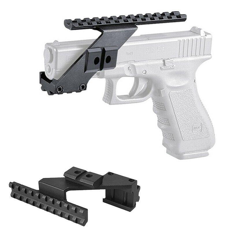 Tattica della pistola Weaver Picatinny UpDown 20 millimetri di metallo della guida Mirino della torcia elettrica del laser di supporto Per Glo ck modello G17 G19 G26 Series
