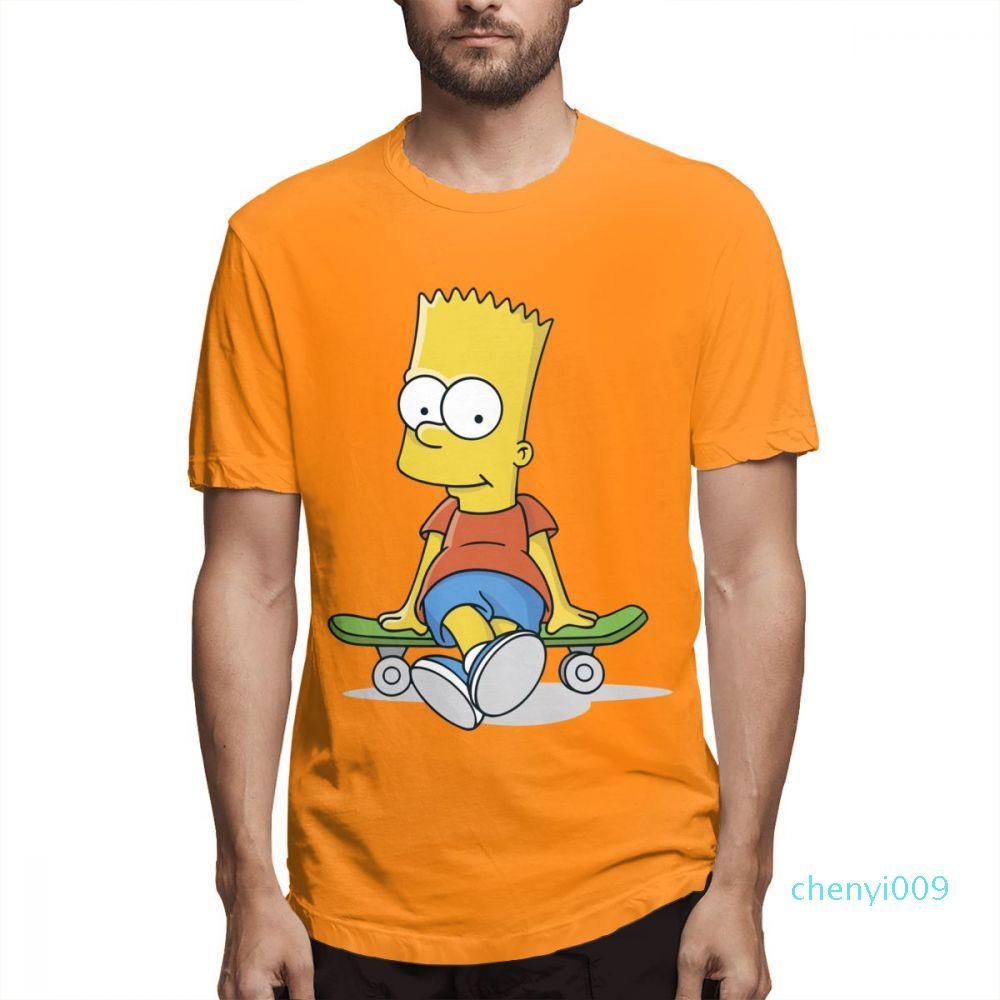 Camisas del diseñador de moda para mujer para hombre camisas de manga corta para hombre de Los Simpson camiseta impresa algodón Causalcasu Tops s511c09