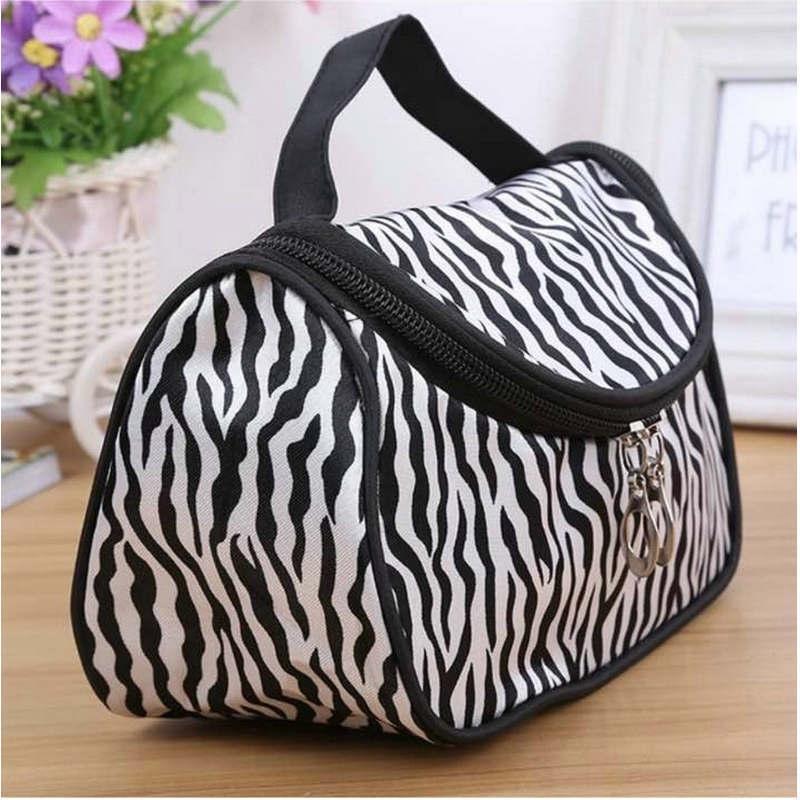 Nouveau sac brosse style coréen mode de stockage de lavage des mains léopard des femmes d'impression à la main un sac de rangement pinceau de maquillage