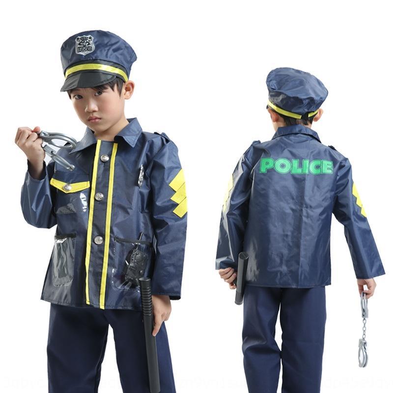uZwRr jardin d'enfants de vêtements policiers jouant étape costume cosplay police de la circulation pour enfants petit rôle de uniforme pour les enfants