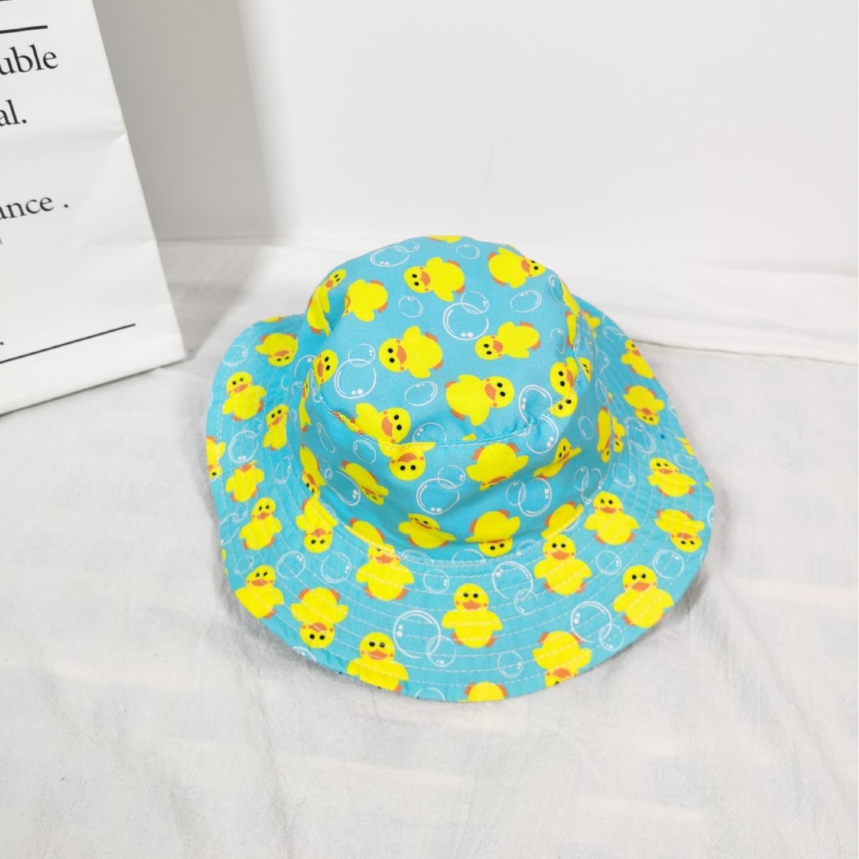 Children's cartoon boys and girls sun shark bucket bucket hat dinosaur breathable baby fisherman hat