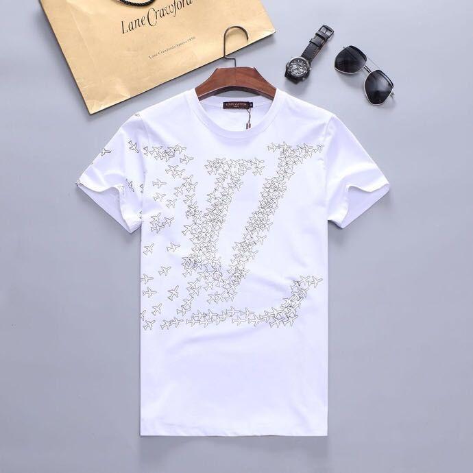 Herren-Stylist-T-Shirt Pentagramm Stern gestreifter Druck-T-Shirt Männer Frauen Stylist T Shirt Kurzarm-T-Shirts Größe M-XXXL