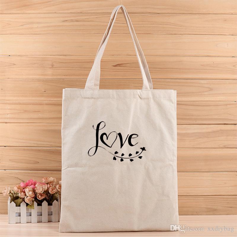 1pc criativo AMOR estilo simples da menina da forma e mulheres casuais terno lona Sacola para compras, presente, casamento, aniversário ou qualquer outra coisa