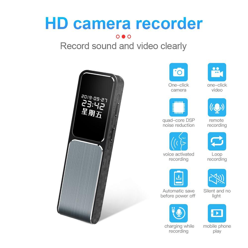 Full HD 1080P enregistreur mini caméra vidéo avec écran de 8 Go 16 Go 32 Go réduction du bruit stéréo Enregistreur vocal support OTG Téléphone Connexion D1