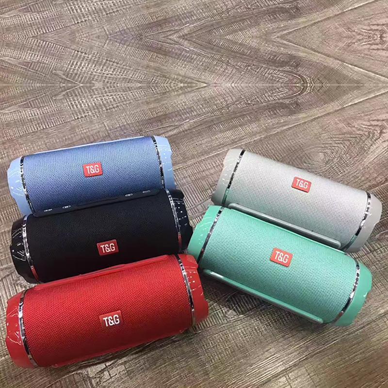 TG116 Double Corne Tissu Net sans fil Bluetooth Mini haut-parleur haut-parleur portable de soutien TF carte main libre stéréo Mic pour téléphone mobile