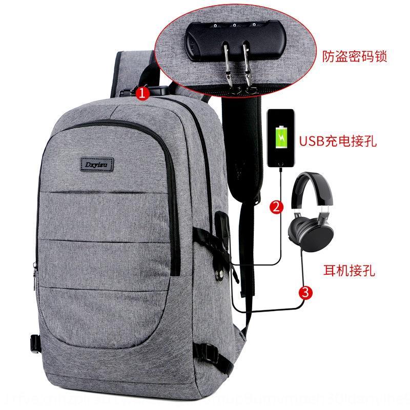 Herren-koreanische beiläufige einfache Persönlichkeit Student usb Reise große Kapazität Laptoptasche Rucksack Computer Rucksack Frauentasche