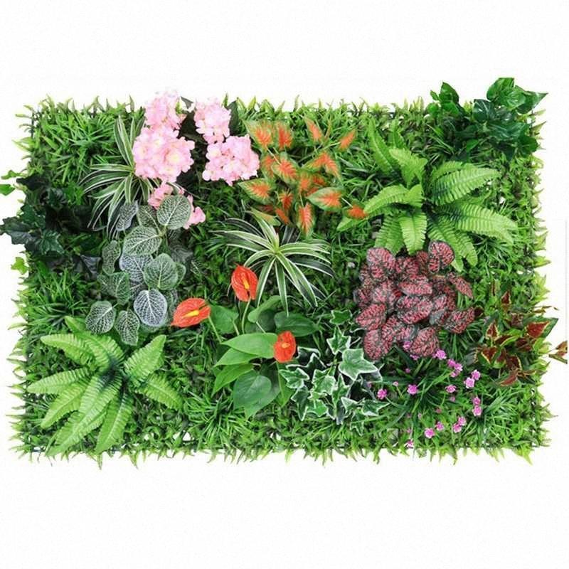 0,96 metro quadrado Artificial parede planta eucalipto parede Planta Vertical Garden Detalhes no Falso Verde Com Acessórios Jn7C #