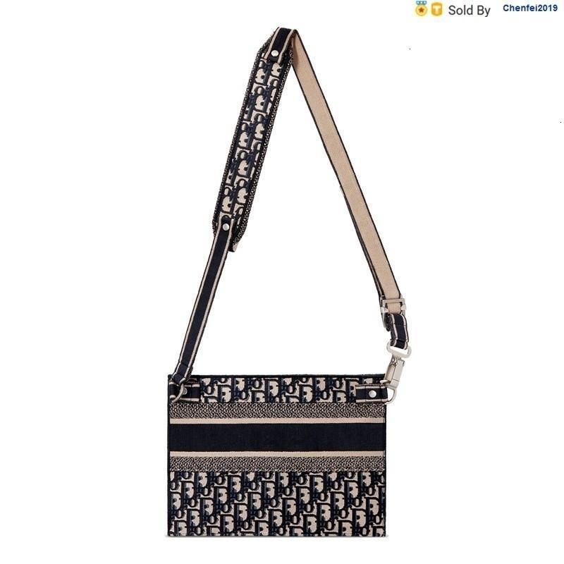 chenfei2019 XPUN Oblique Embroidered Canvas Clutch Bag Shoulder Bag M1292vriw_m974 Totes Handbags Shoulder Bags Backpacks Wallets Purse