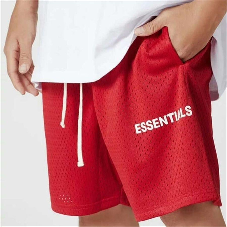 RHUDE 20SS Dama Harf Baskı Naylon Pantolon Essentials Erkek'S Ve WoEssentials Mens'S Casual Şort Beş Noktaya Pantolon S # 627