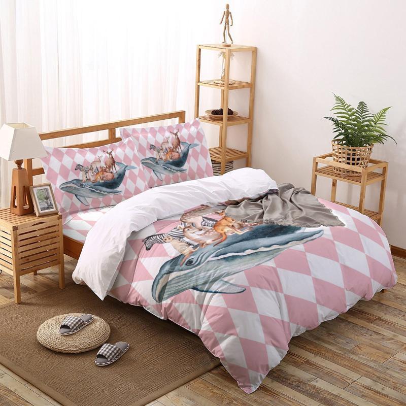 Deer Zebra Bettwäsche-Set Vier Sätze von maßgeschneiderter Bettwäsche Bettwäsche-Sets Set Luxus