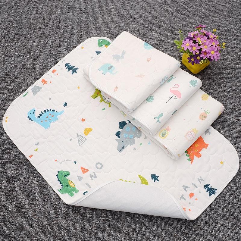 80 * 100 tampon de gaze haute densité imperméable couche de couche-culotte lavable et pur coton pad de fuite bébé