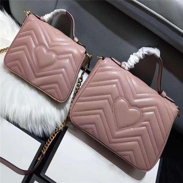 XX Mode Amour coeur V Motif en vagues Satchel Designer Sac à bandoulière chaîne sac à main de luxe sacs à bandoulière sac fourre-tout Dame