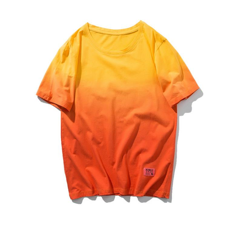 Verano nuevo 100% de algodón suave hombre de las camisetas de manga corta Casual O-Cuello Regular Fit Negro Blanco Amarillo Básico tes de las tapas