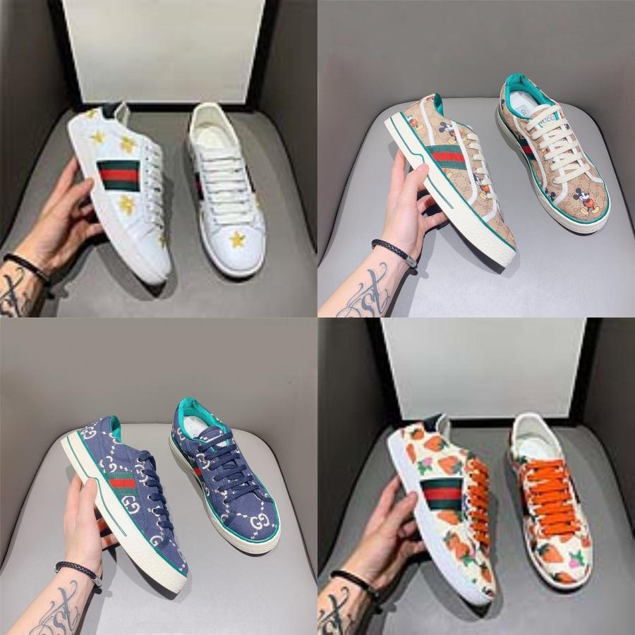 Zapatos de mujer nueva GG diseñador de moda de zapatos de lujo para hombre de la lona con cordones de la plataforma de gran tamaño Sole zapatillas Negro Gris zapato casual # 353