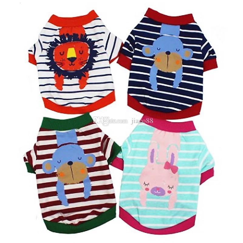 New Christmas Gift Dog Clothes Apparel Cat Vest Small Costume Pet supply Cartoon Clothing Cotton t shirt For Puppy Jumpsuit Outfit DHL Free