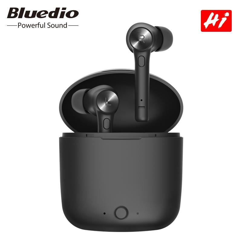 Bluedio TWS sem fio Fone de ouvido Bluetooth esporte Estéreo Bluetooth Headphone com carregamento Box HeadsetFor iPhone XS 11 Pro 8 7