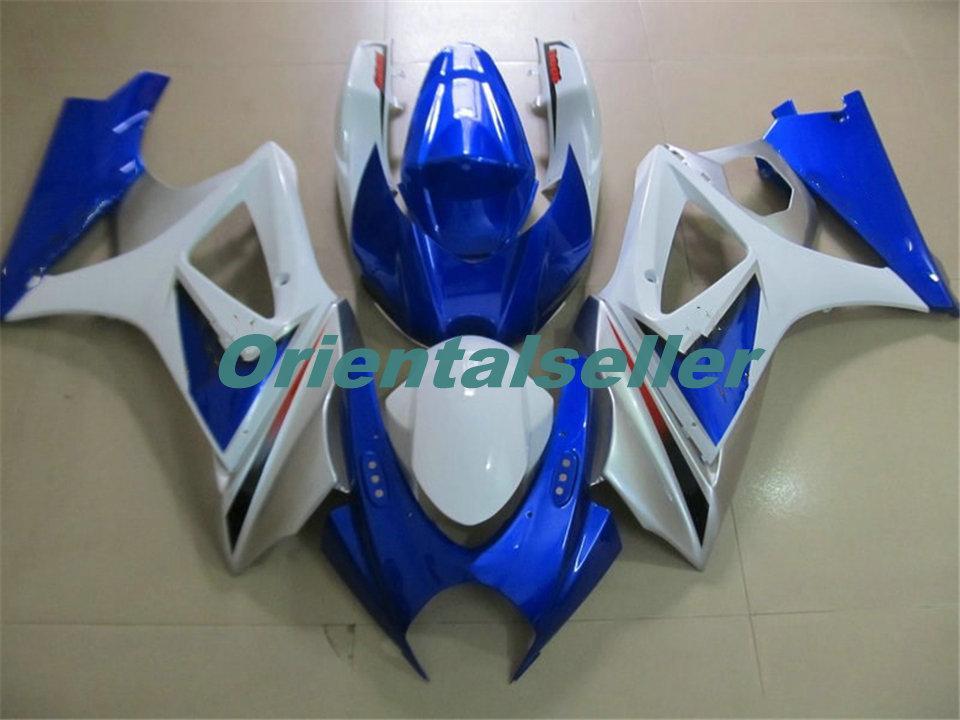 Тело Для SUZUKI GSXR1000 GSXR1000 горячий GSXR1000 07 08 кузовного GSX R1000 07 08 K7 GSXR 1000 2007 2008 синий белый AC42 Полный комплект обтекателя