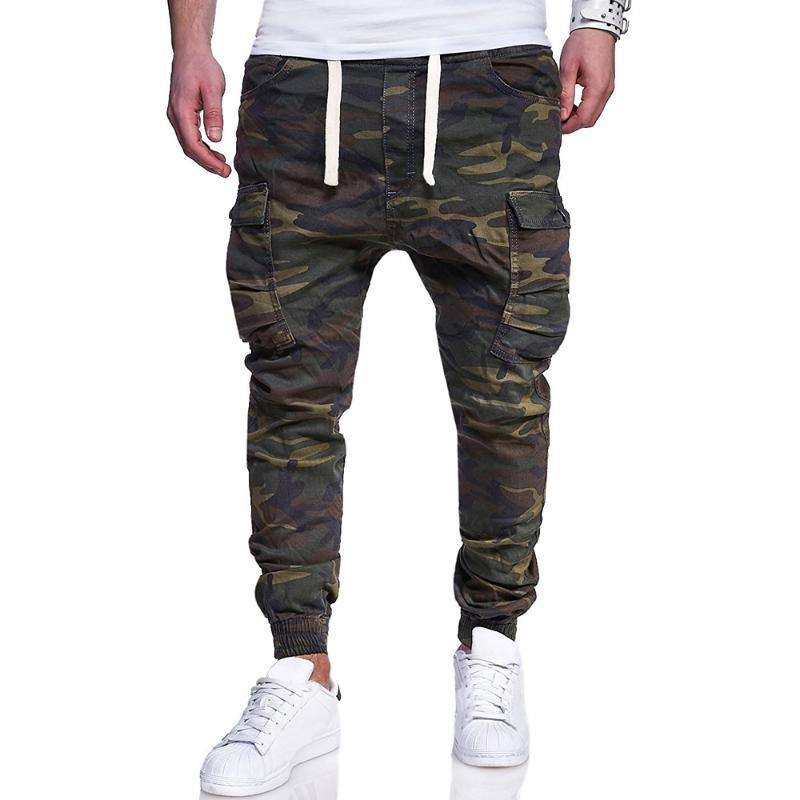 Pantalons pour hommes Camouflage Jogger 2021 Mens Hiver Joggers Harem Hommes Coton Confortable Camo tactique