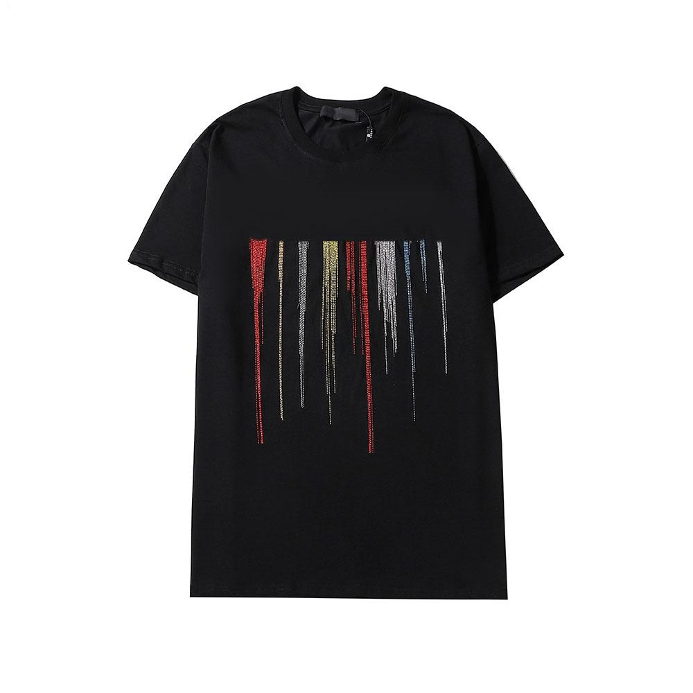 Mens Designer T-shirt Lettres Mode broderie Tops 2020 Summer New Hiphop Streetwear pour garçons Casual tee-shirts colorés