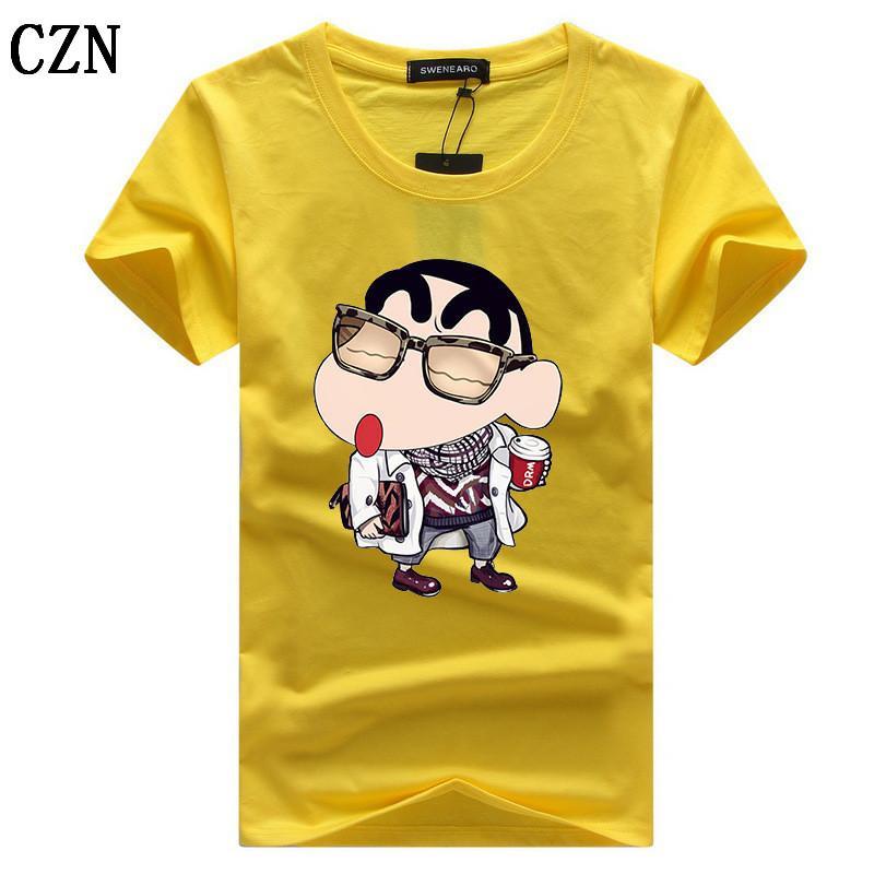Été O col T-Shirt Men Plus Size 5xl Marque imprimé de haute qualité à manches courtes Chemises 5XL T-shirt décontracté coton C-4