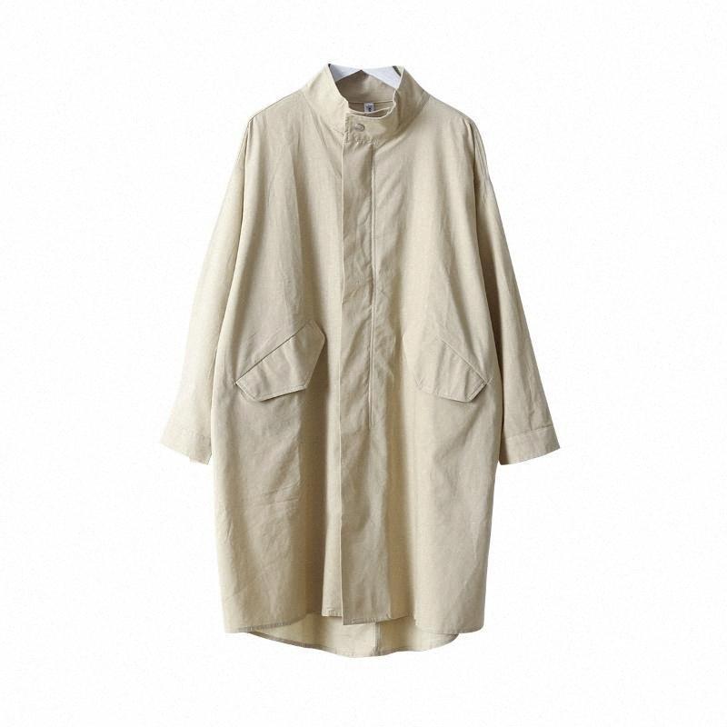 Pamuk Blend Kadınlar Trençkot 2020 Yeni Kore Moda Giyim Kadınlar uTsv için # Geniş belli Ofis bayan trençkot Cepler