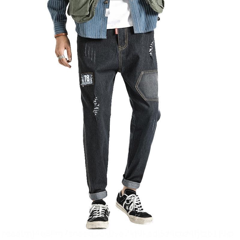 Vpi3o по размеру для мужчин 2020 нового тонкого похудения подходят ноги брюки джинсов и джинсы небольших случайного большого размера молодежь стрейч жир случайных брюки плюс мужчин