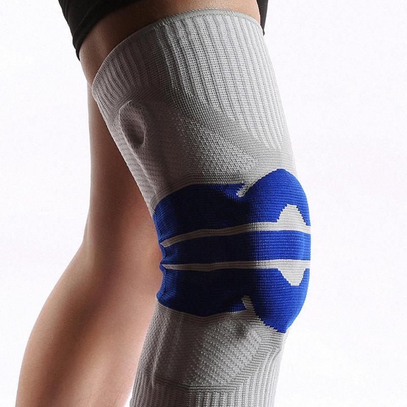 1PCS 2020 rodilla Soporte de protección de los deportes profesionales de rodilla acolchado transpirable vendaje Brace Baloncesto Tenis Ciclismo 2nR1 #