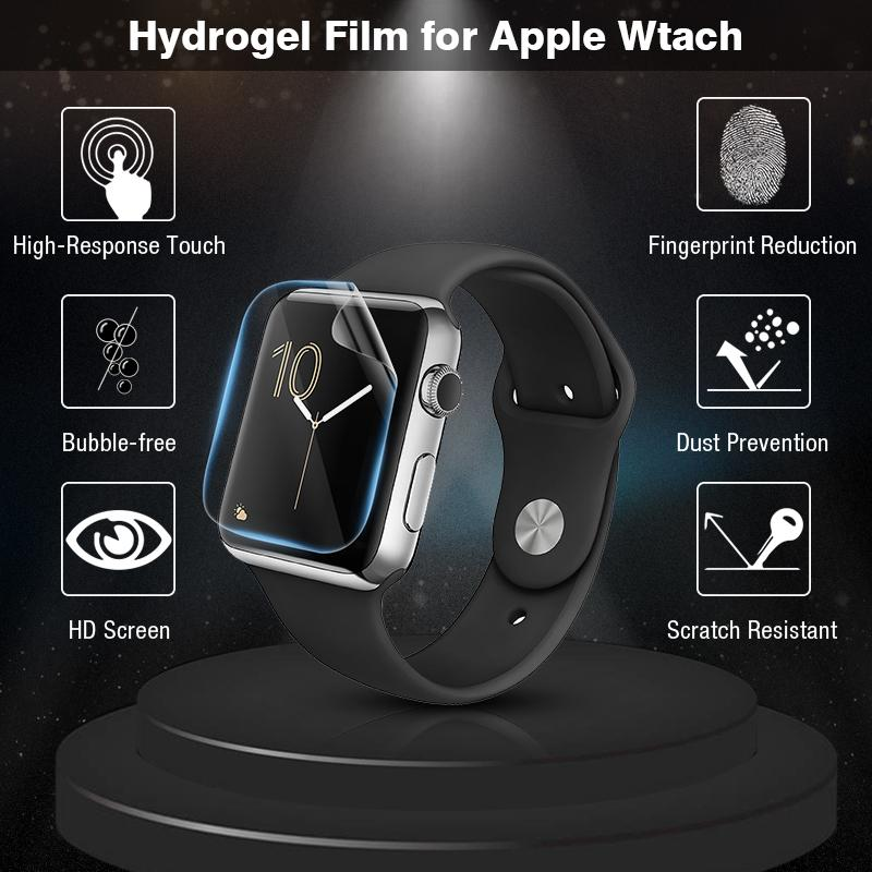 3D Gurved Soft Hydrogel Full Screen Protector Not Glass Film For Apple Watch Series SE 6 5 4 3 2 1 38mm 42mm 40mm 44mm