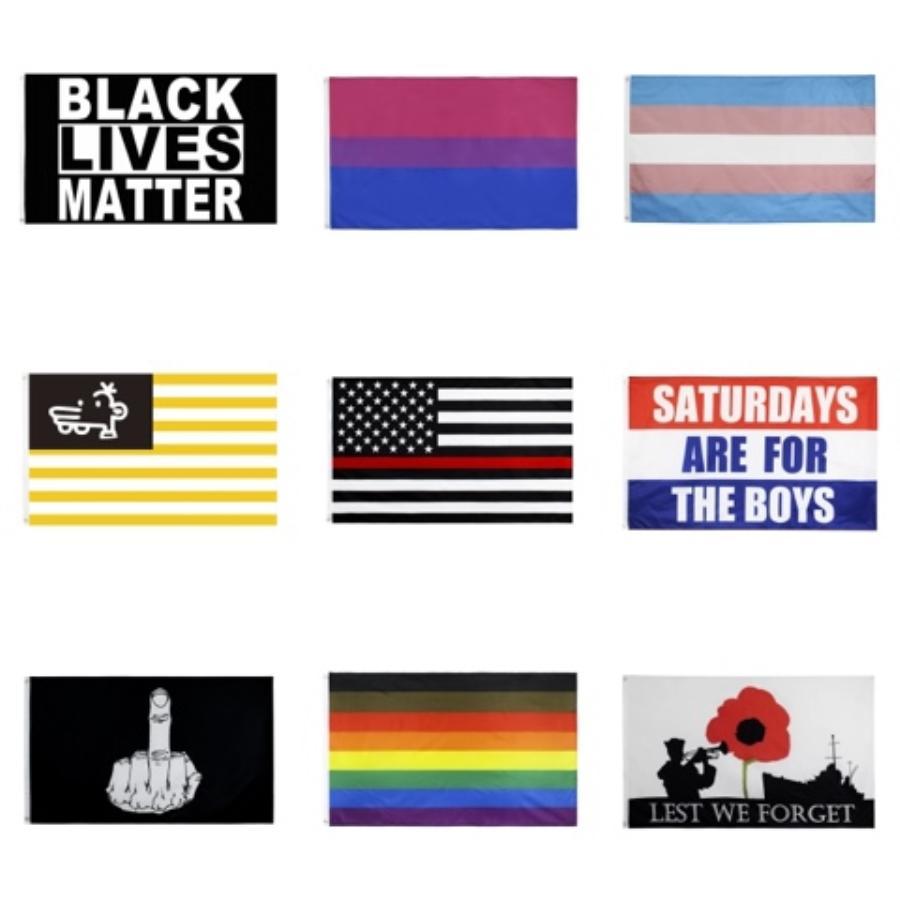 Sıcak Satış Ürünleri Siyah Silahlar Madde Bayraklar İki Grometler 100D Polyester Özel Bayraklar Flags Özelleştirilmiş # 108