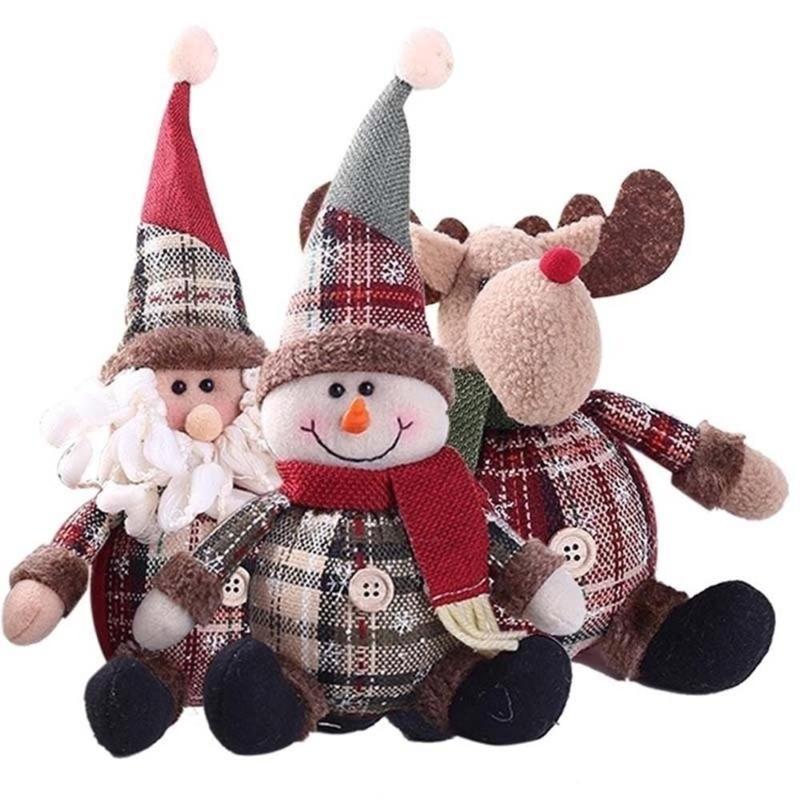 Tissu en peluche Poupée de Noël Figurine Belle Cadeaux Elf Home Decor Novel Party Supplies Hanging intérieur