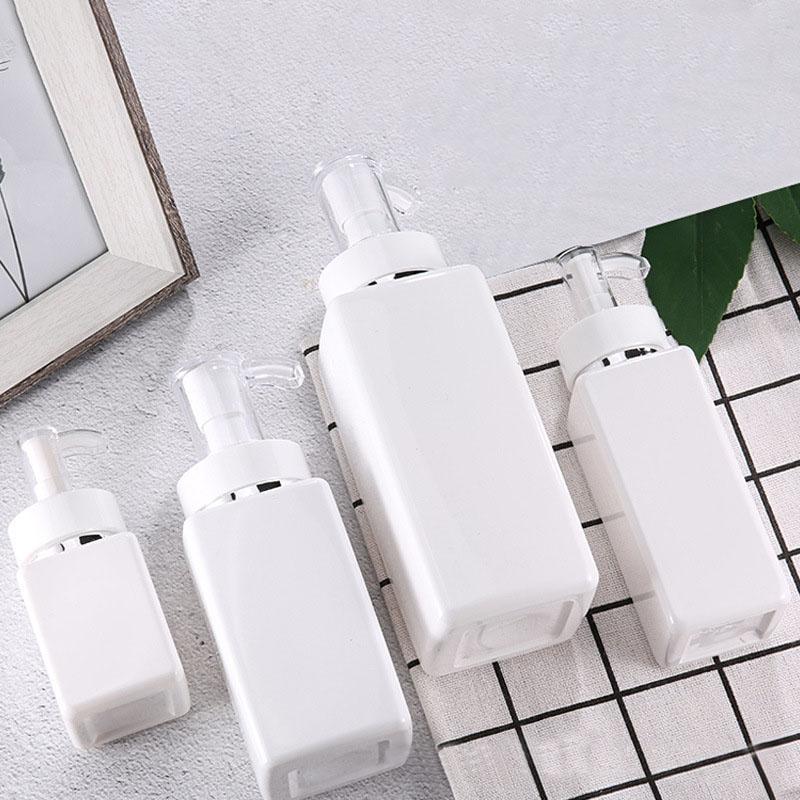 100ml-500ml PET Kare Losyon Pompası Şişeler Alkol Jel Dezenfektan Şampuan El Temizleyici Kozmetik Alt Ambalaj Plastik Şişe AHA947 Şişe