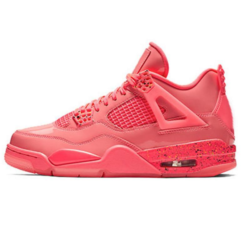04 4 Raptors tatuaje caliente del sacador zapatos de baloncesto de Scott Travis 4s Cactus Jack Pure dinero Pizzeria Gato Negro formadores zapatillas de deporte de la goma de los zapatos con la caja