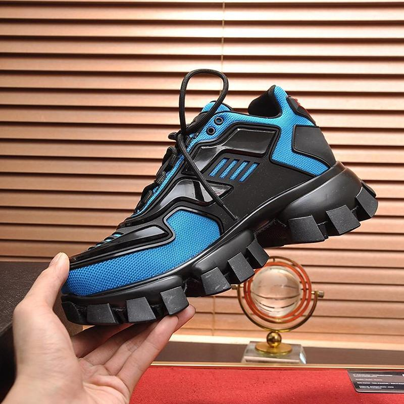 Novo Luxo Shoes Zapatos De Moda Para Hombre Drop Ship respirável sapatos de luxo Lace -Up Baixo Homens Top Shoes Cloudbust Trovão Knit Sneaker